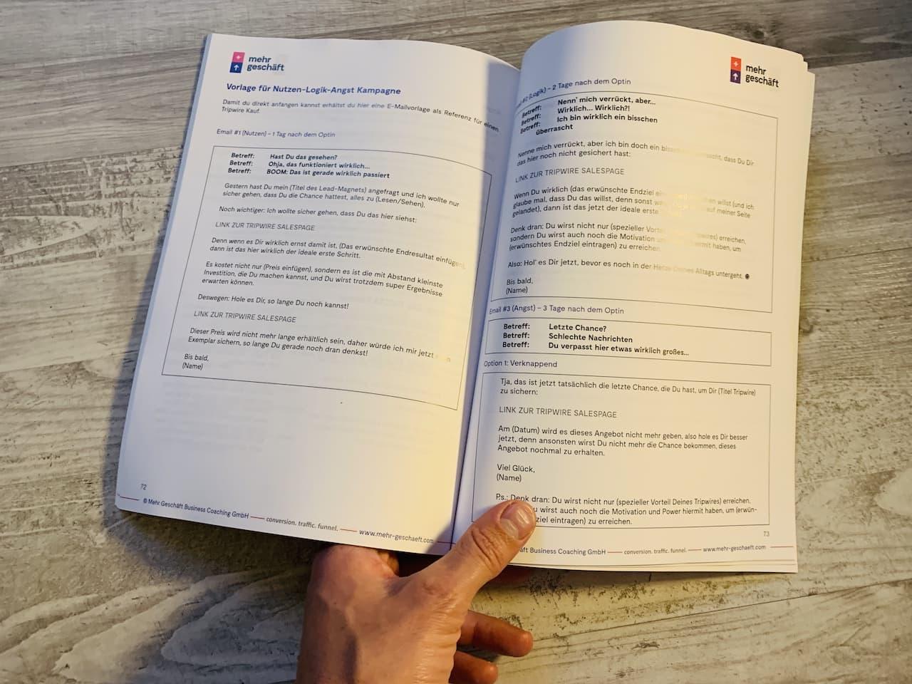 Das Online Marketing Buch von Mehr Geschäft Seite 72 73