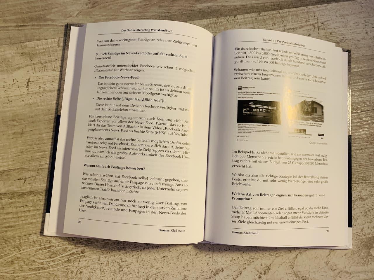 Das Online Marketing Praxishandbuch Cover Seite 90 bis 91