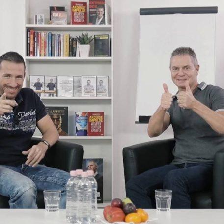 Dirk Kreuter und Calvin Hollywood beim Videodreh