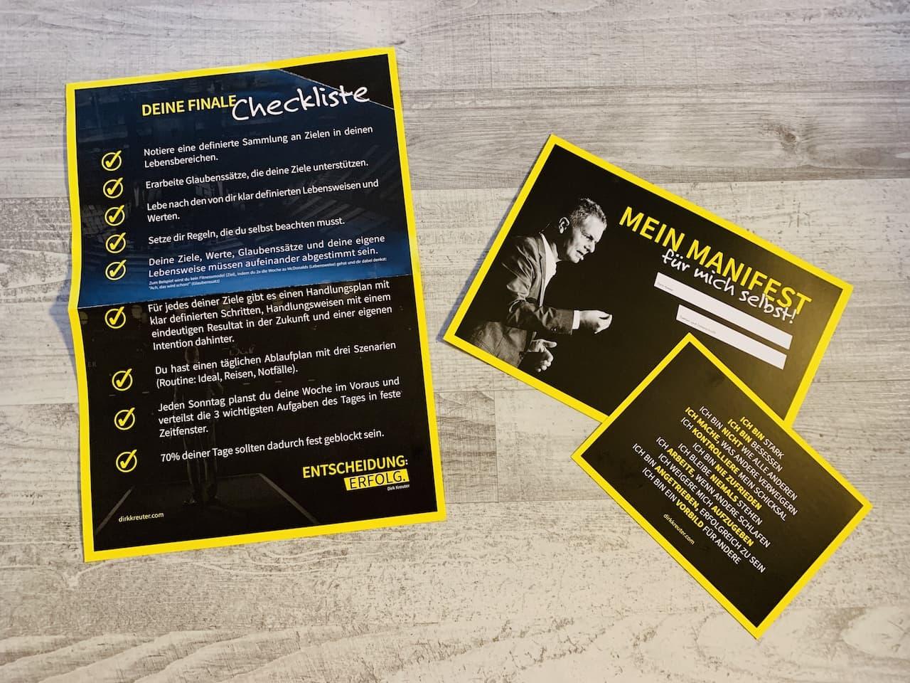 Entscheidung Erfolg Dirk Kreuter Karten Poster