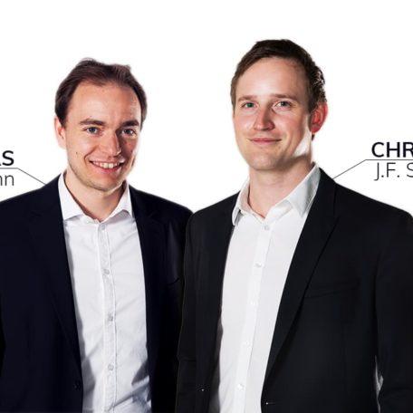 Die Gründer Thomas Klußmann und Christoph J. F Schreiber von Gründer.de