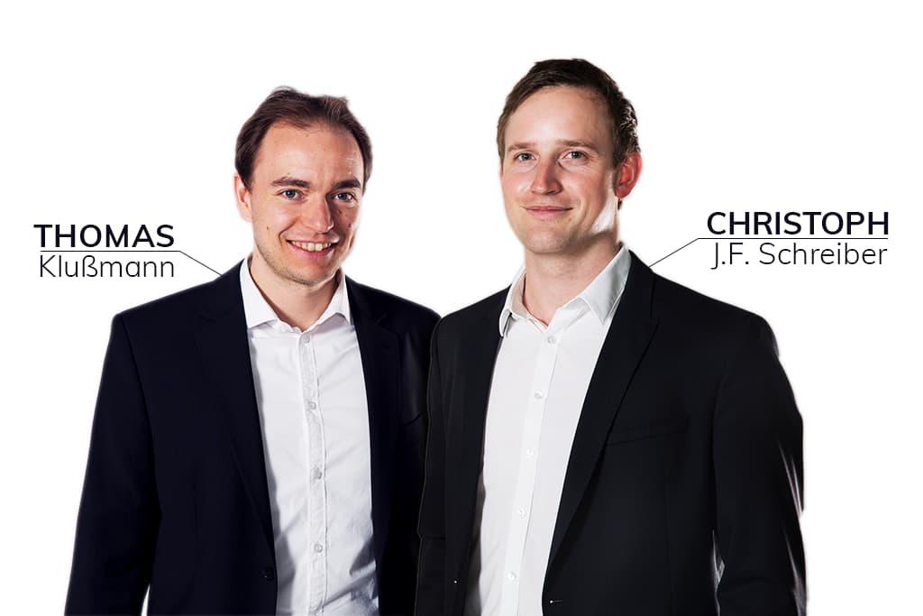 Thomas Klußmann und Christoph J. F Schreiber