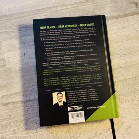Die Rückseite vom Traffic Buch