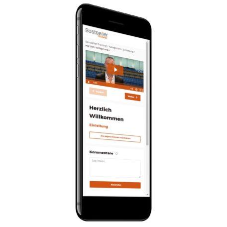 Auch mit dem Smartphone lassen sich die Videos vom Bestseller Training anschauen