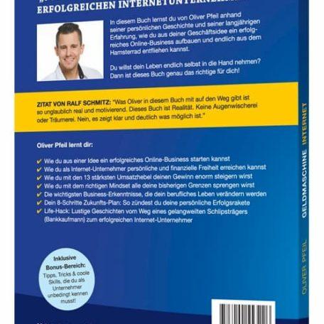 Rückseite von dem Free Plus Shipping Buch, Geldmaschine Internet