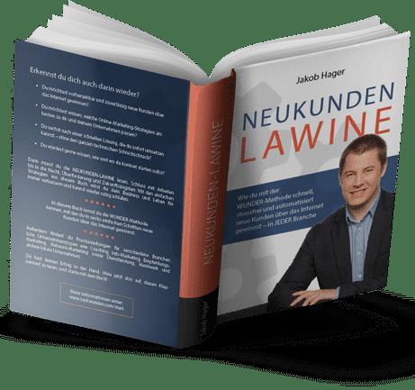 Buchcover Neukundenlawine von Jakob Hager