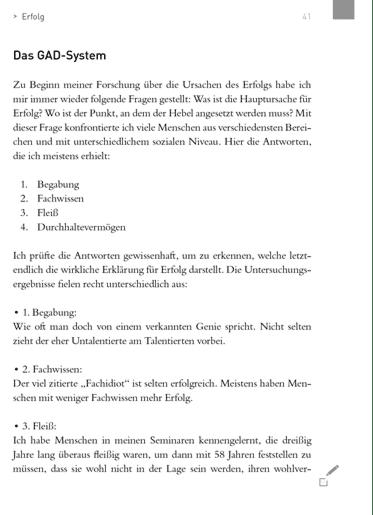 Das GAD System auf Seite 47 im Buch