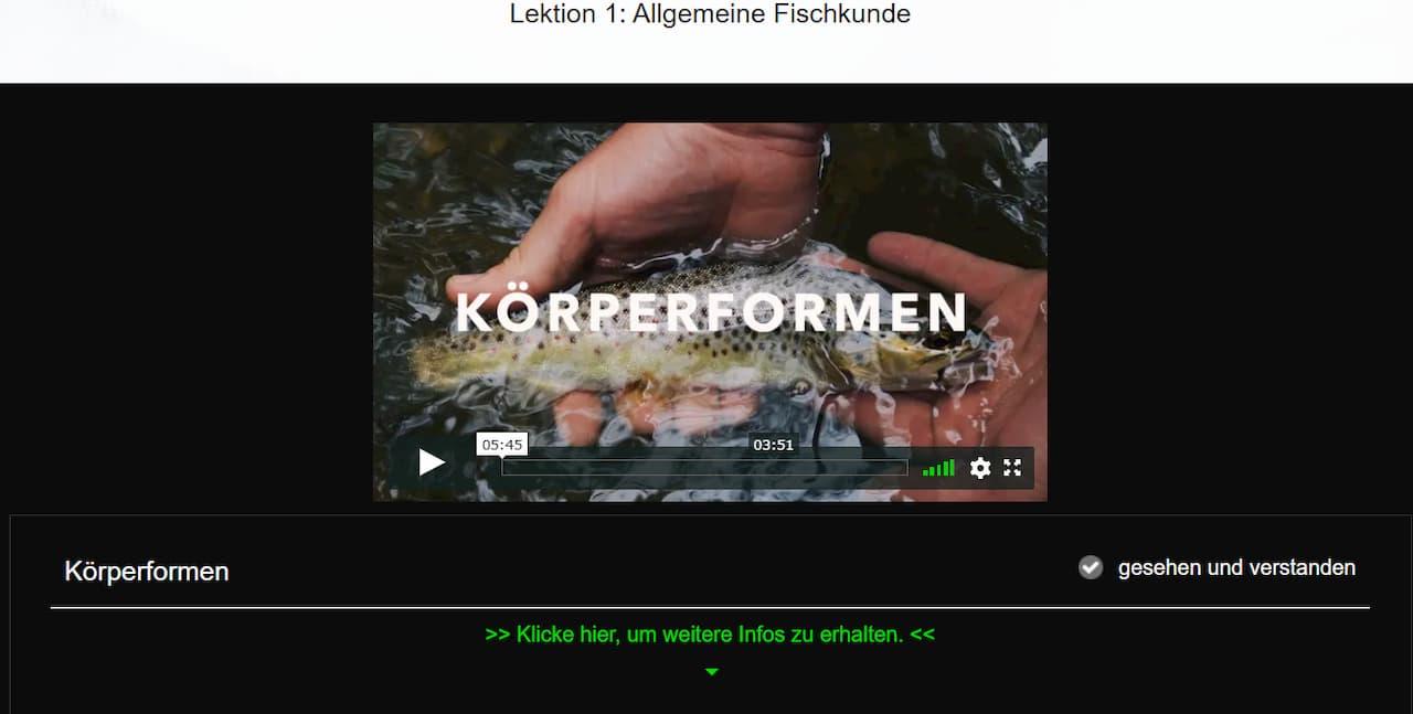 Fishing King Niedersachsen Kursinhalte