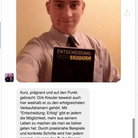 """Kundenmeinung zum Buch """"Entscheidung Erfolg"""" von Dirk Kreuter"""