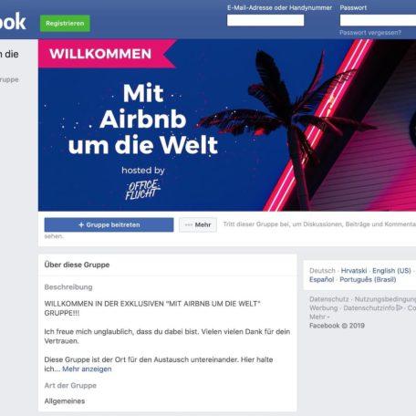 """Die """"Mit Airbnb um die Welt"""" Facebook Gruppe"""