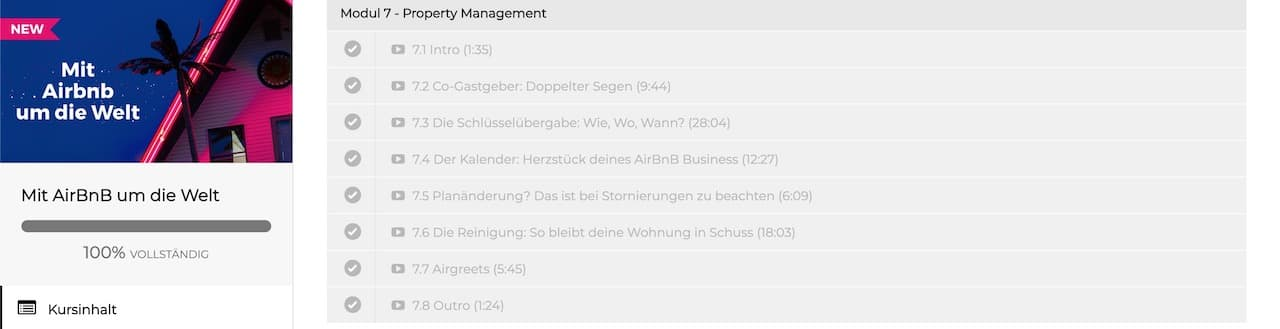 "Modul 7 ""Property Management"""