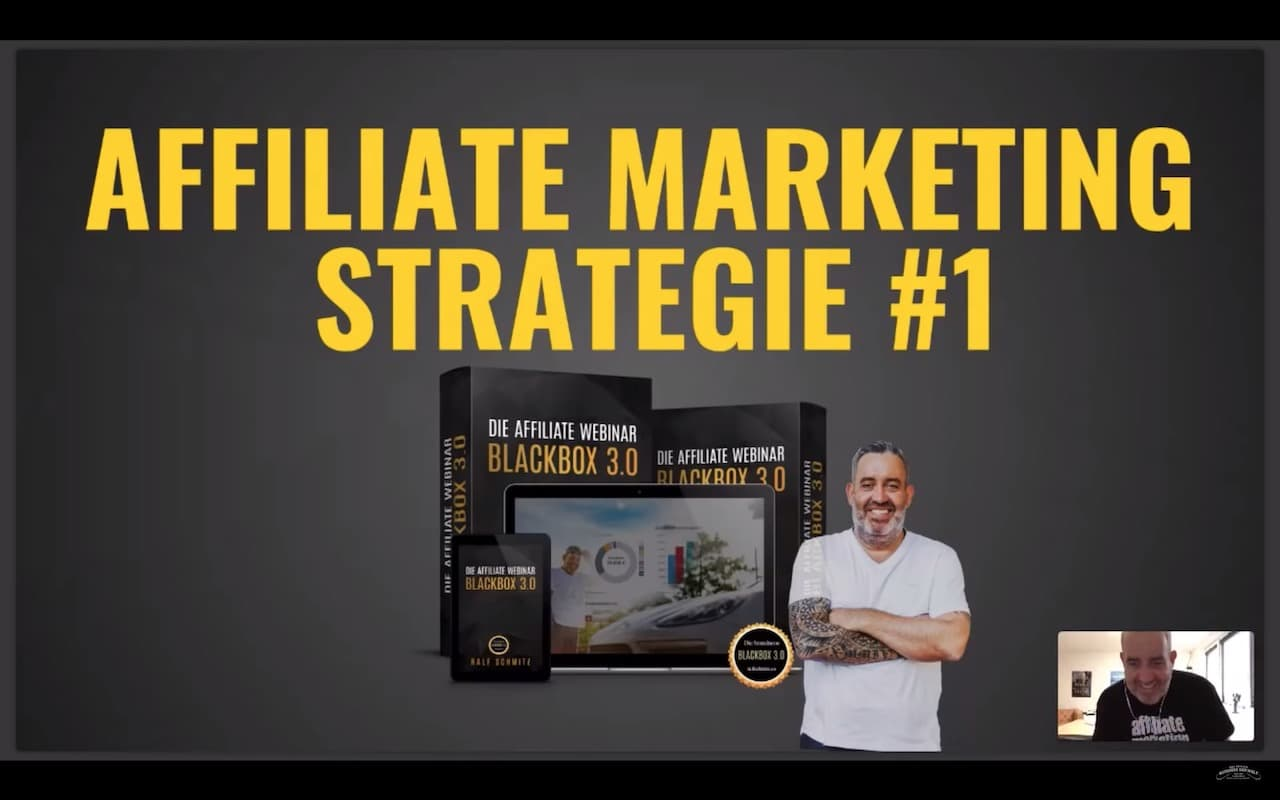 Ralf Schmitz Webinar Affiliate Marketing Strategie