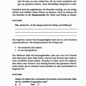 Sprenge deine Grenzen Jürgen Höller Leseprobe Kapitel 1 - GAD System Seite 20 Aufgaben