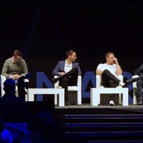Eindruck vom letzten Jahr: Podiums Diskussion mit Christoph Schreiber, Pascal Feyh, Andreas Baulig, Marcel Knopf, Dawid Przybylski & Thomas Klußmann